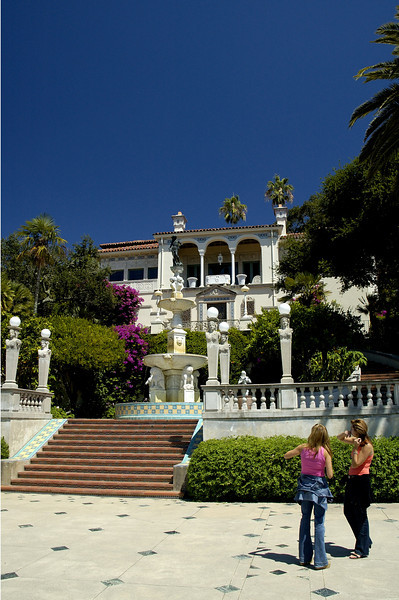 Admiring Hearst Castle.