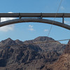 The Memorial Bridge was the first concrete-steel composite arch bridge built in the United States, and it incorporates the widest concrete arch in the Western Hemisphere. At 840 feet above the Colorado River, it is the second-highest bridge in the United States, following the Royal Gorge Bridge. The Hoover Dam Bypass project was completed within budget at a cost of $240 million; the bridge portion cost $114 million
