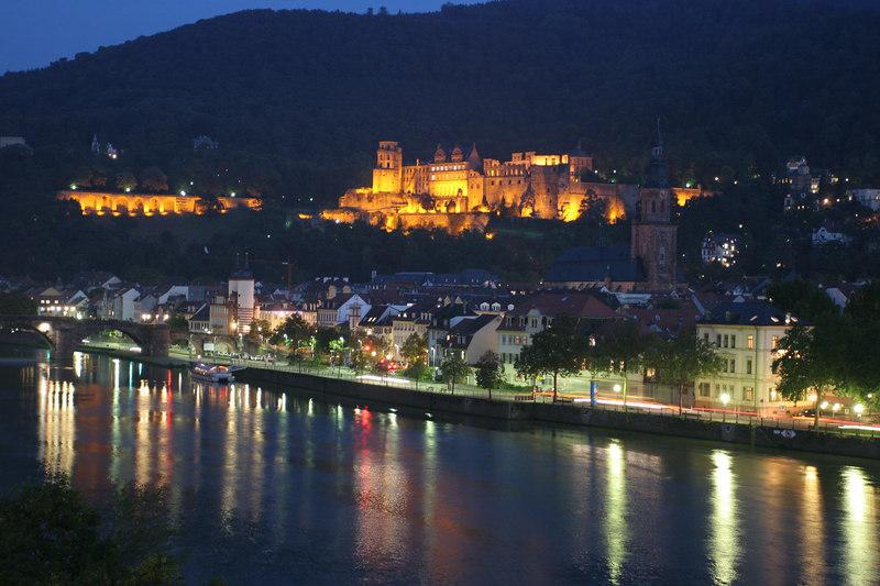 Heidelberg Castle from the SAS HQ balcony