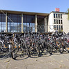 Bicycles at train station in Heidelberg, Germany.