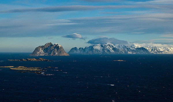 Wiew norht  Mosken and Lofoten
