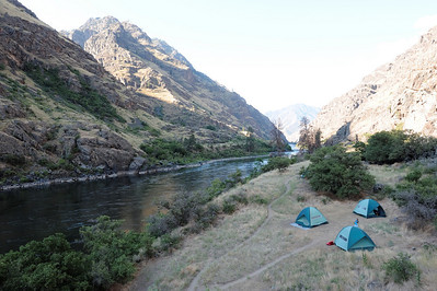 Campsite at Lower Oregon Hole,  Hells Canyon