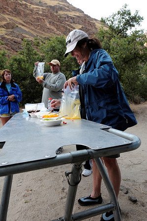 Omelets in a bag, Lower Oregon Hole,  Hells Canyon