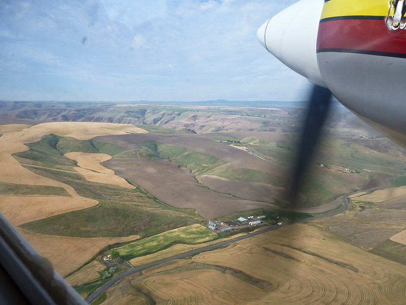 Flying out from Lewison to our put in spot gave us a chance to admire the scenery from afar.