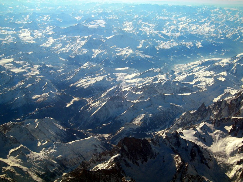 Panorama from the plane, travelling from Genoa to London<br /> <br /> Panorama dall'aereo, da Genova verso Londra