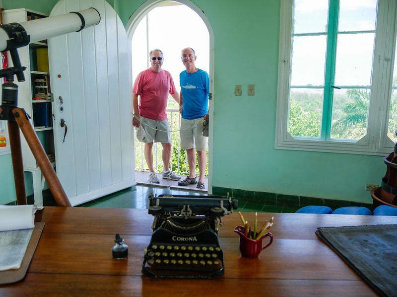 Hemingway's office in the tower.  Museo Hemingway, Finca Vigia, Havana, Cuba, June 11, 2016.