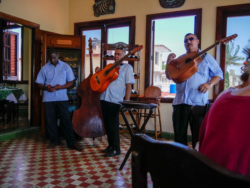 Entertainment takes a break at the  La Terraza, Cojimar, Cuba, June 11, 2016.