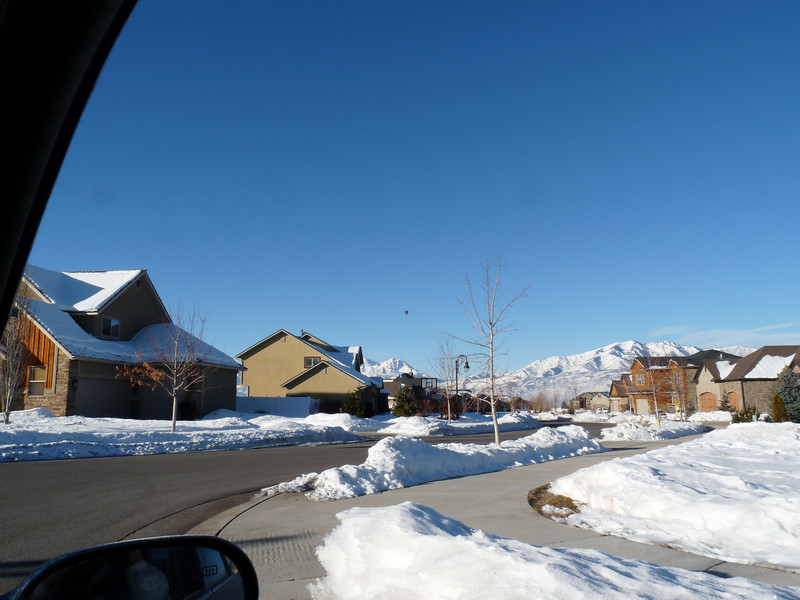 Turning the drive onto Susanne's street, I see a hot air balloon in the distance.