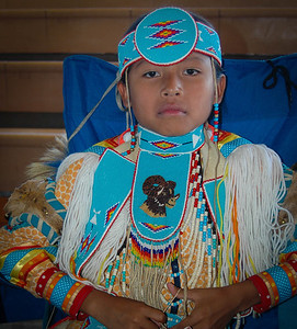 Salish girl, Standing Arrow Powwow - Elmo, Montana
