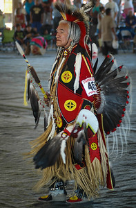 Traditional Dancer, Standing Arrow Powwow - Elmo, Montana