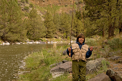 Nathan ready to catch some fish.