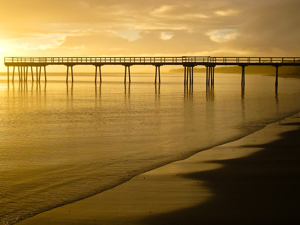 "Point & Shoot / Pocket Camera photos - ""Golden Sunrise"" - taken in the early morning at Pialba Beach; Hervey Bay, Queensland; June 2010."