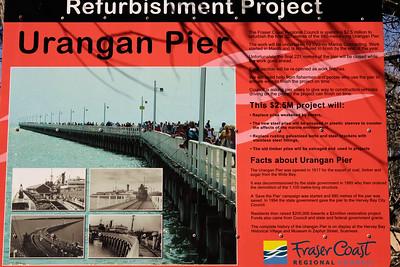 Urangan Pier Information - Hervey Bay, Queensland, June 2010.