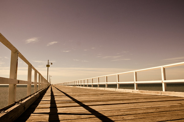 "Urangan Pier - Hervey Bay, Queensland, June 2010. LR Preset: ""Matt's Summer Haze 2""."
