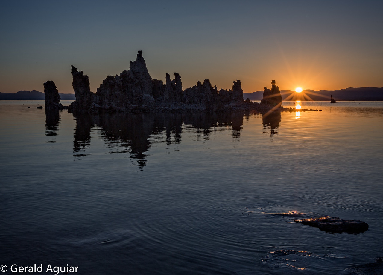 Sunburst at Sunrise - Mono Lake
