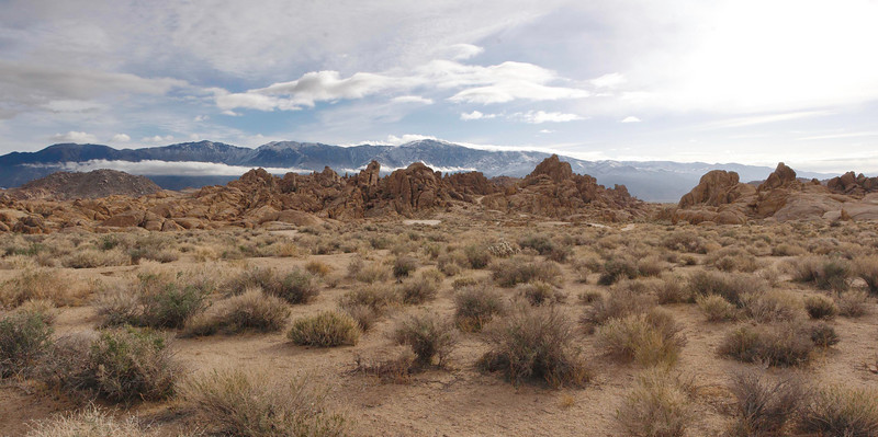 This is looking east towards the town of Lone Pine, CA.  The location is the Alabama Hills, which are the foothills to the High Sierra Mountains.This also the location of where many westerns were shot in the 30s, 40s, and 50s, including Hopalong Cassidy, which was my favorite cowboy when I was kid.