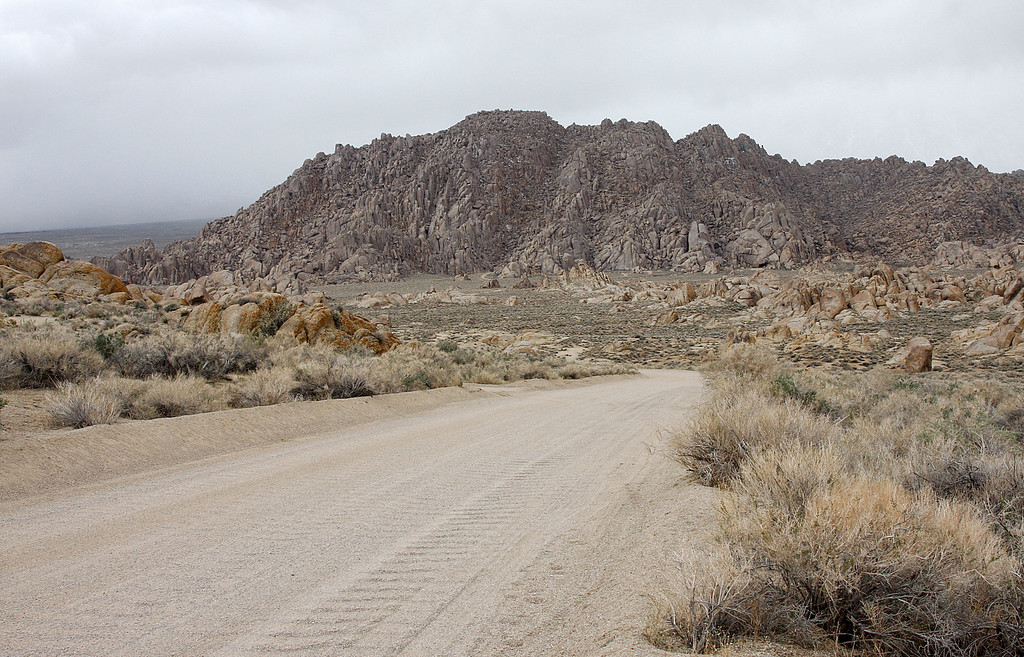 Alabama Hills, it just started snowing and it was time to head for warmer temperatures.