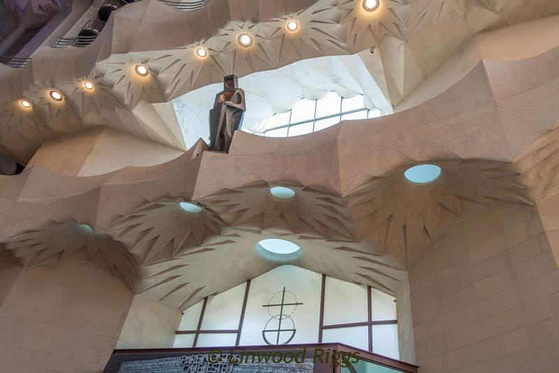 Interior, Sagrada Familia cathedral.