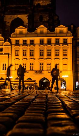 Old Town Square pre-dawn
