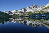 Long Lake in morning light , Bishop Pass Trail,  Sierra Nevada,  California,  July 1, 2008