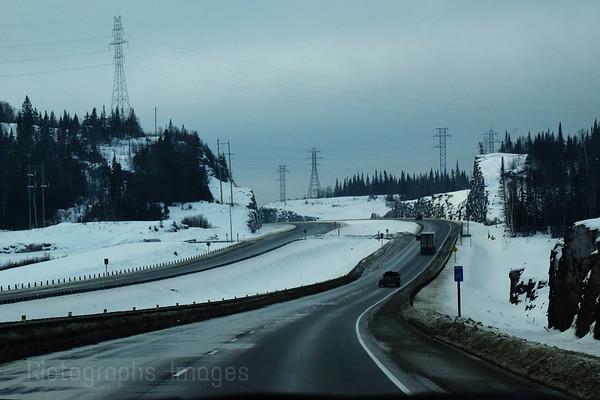 Winter Travel, Eleven, Seventeen, Northwestern Ontario, Canada