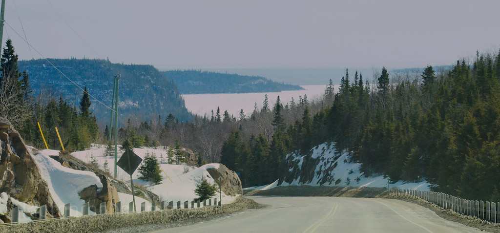 Rocks & Trees;  On The Trans Canada Highway