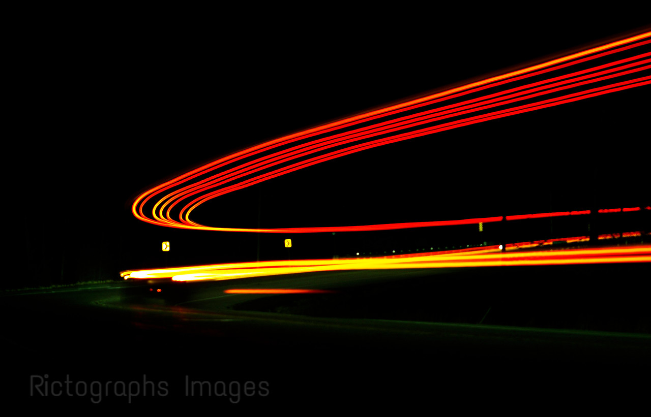 Night Photography On The Trans Canada Highway,
