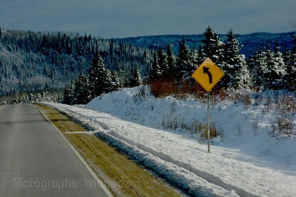 Winter Highway Travel,