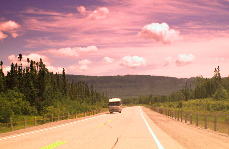 Traveling The Trans Canada Highway, On The Lake Superior Circle Route