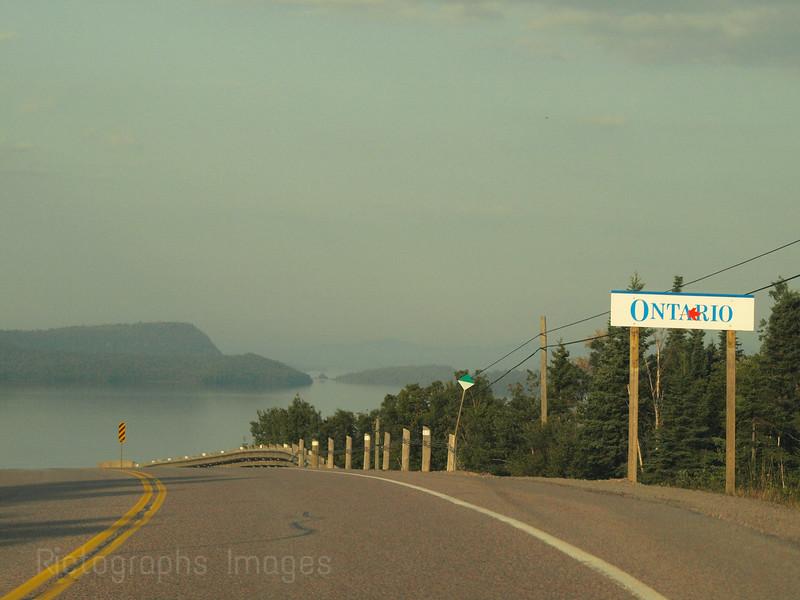 Trans Canada Highway Seventeen, Lake Superior, Ontario, Canada