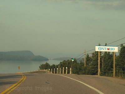 Trans Canada Highway Near Rossport, Ontario, North Shore of  Lake Superior