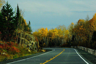 Autumn Highway Travel