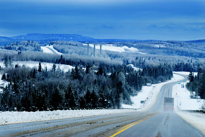 Winter Travel, Nipigon, Ontario, Canada