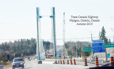 Trans Canada Highway Construction; Autumn 2015; The Bridge At Nipigon, Ontario, Canada