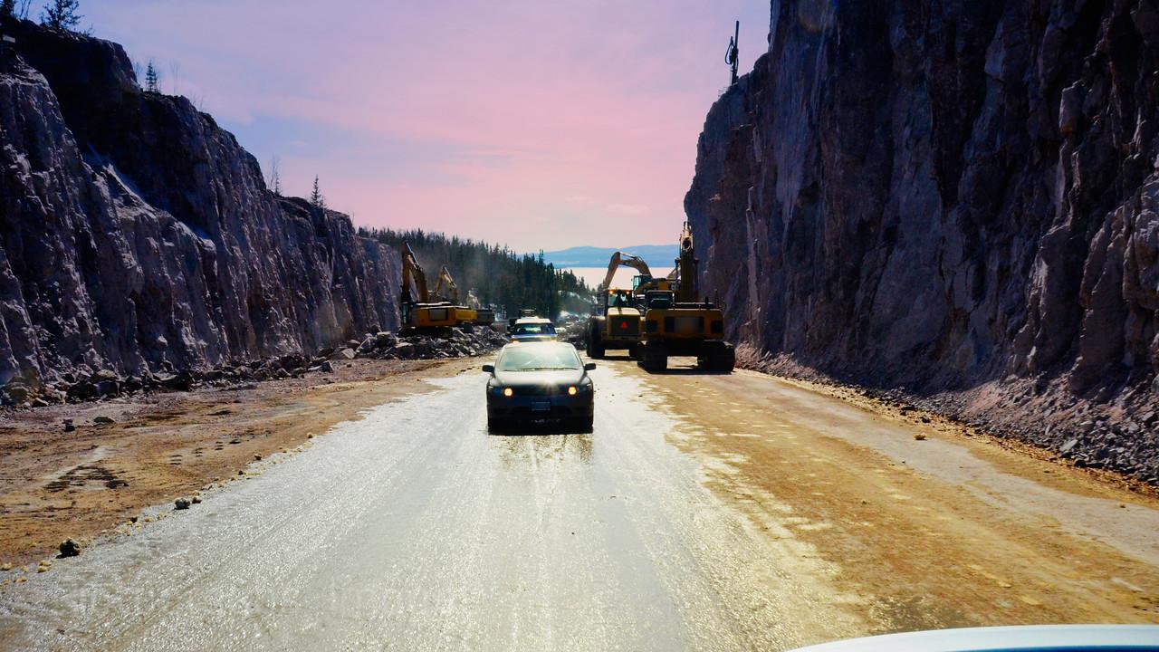 Highway Rockcut, Travel Photo, Ric Evoy Rictographs Images;