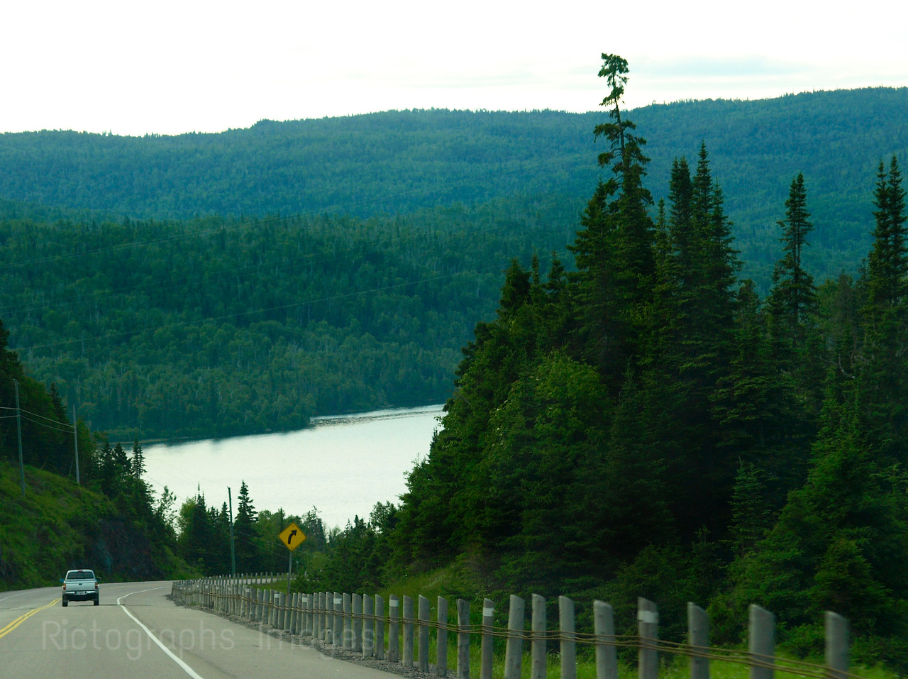 Trans Canada Highway Seventeen, East Of Terrace Bay, Ontario, Canada