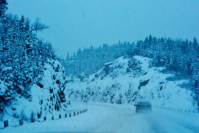 Winter Highway Travel,