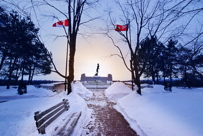 Terry Fox Monument, January 2020