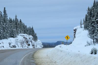 Winter Highway Travel