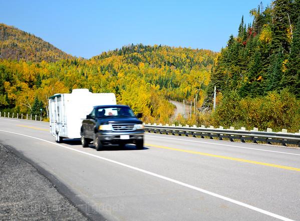 Trans Canada Highway, Travel Trucking, Autumn 2014,