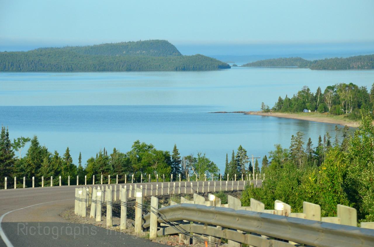 Lake Superior Circle Route Near Rossport, Ontario, Canada