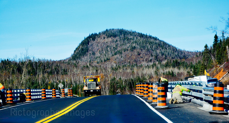 Trans Canada Highway Construction; Autumn 2015; Buffalo Mountain