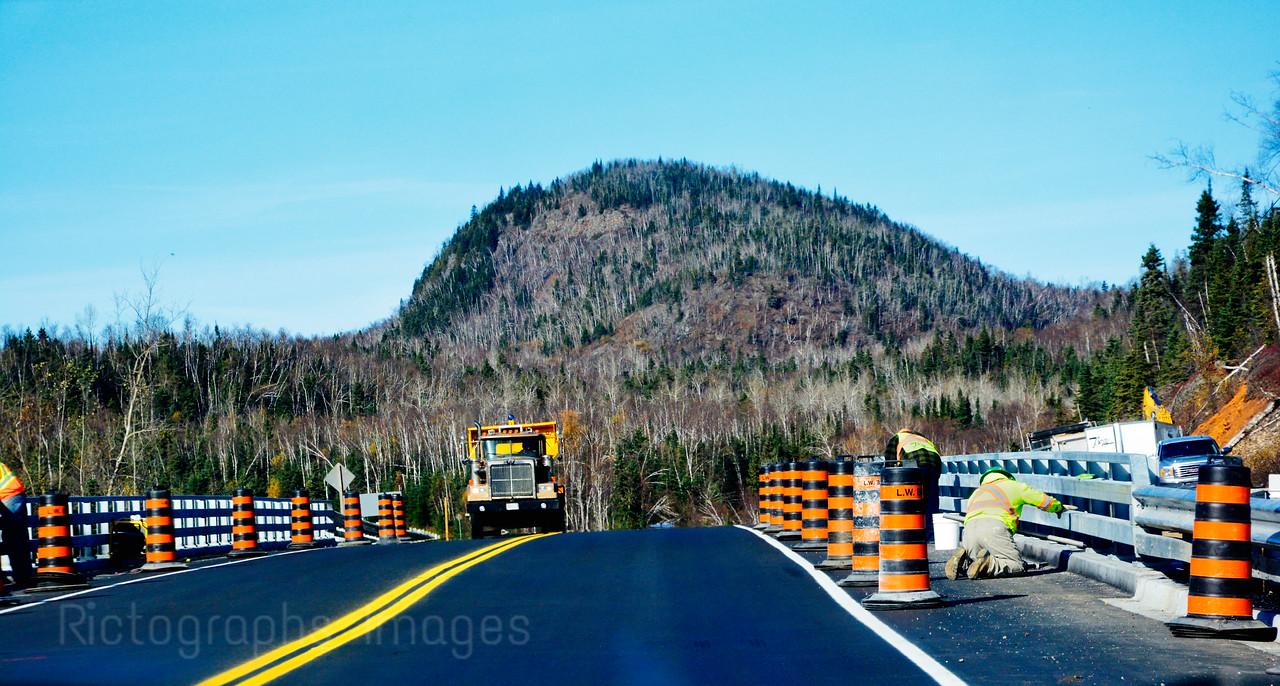 Trans Canada Highway Construction; Autumn 2015; Buffalo Mountain