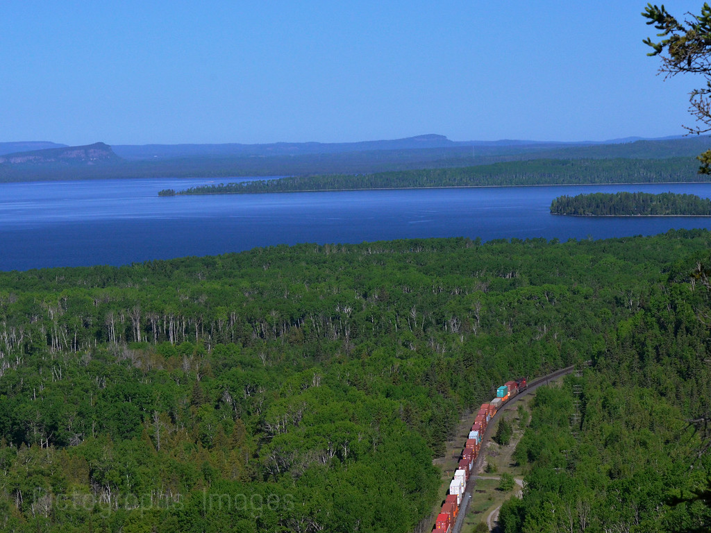 Lake Superior; & Canadian Pacific Railway;  Ontario; Canada; Ric Evoy; Rictographs Images;