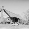 Caretaker cabin atop Hooper Bald. Part of the hunting lodge compound.   This is a historic archive photo by Albert Dutch Roth.