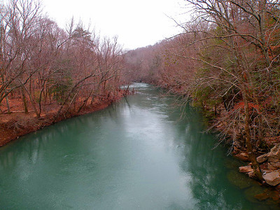 The Caney Fork River viewed from Lost Creek Bridge.