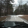 Snowy Scotts Gulf Road heading toward Virgin Falls and Scotts Gulf.