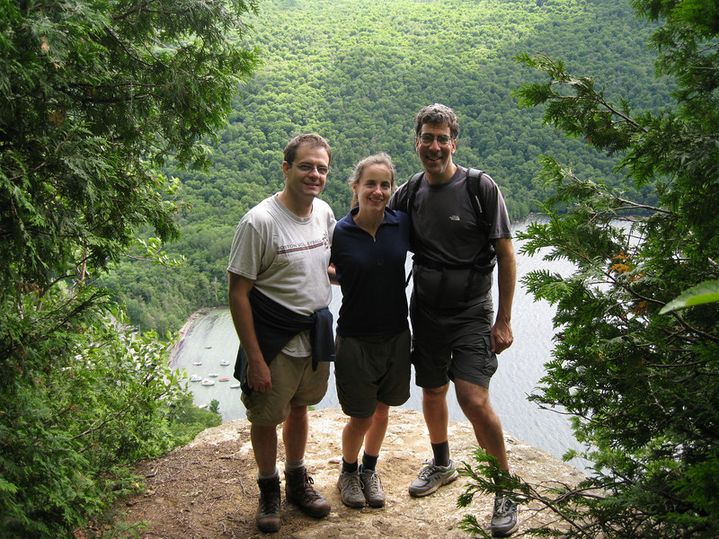 Phil, Michelle, and Dan near Pulpit Rock.
