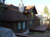 Neighbor's log cabin house.
