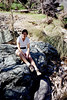 Taking a break along the Cave Creek Trail.